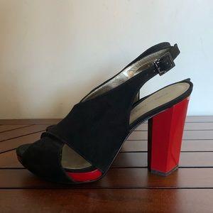 Diane Von Furstenberg slingback shoes sz 7.5